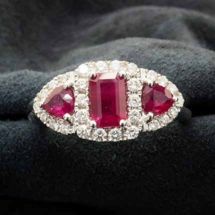 bague rubis diamants ref 1991