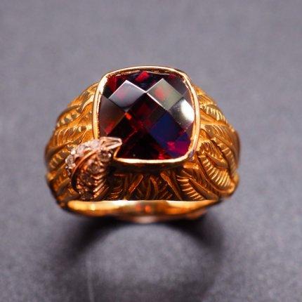 bague creation grenat bijoux-anciens-lemans.com